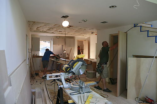There Are Now 6 In Addition To The 5 Framing Carpenters That Have Been  Working Since The Beginning Of The Project. Door Trim, Pocket Door  Installation, ...
